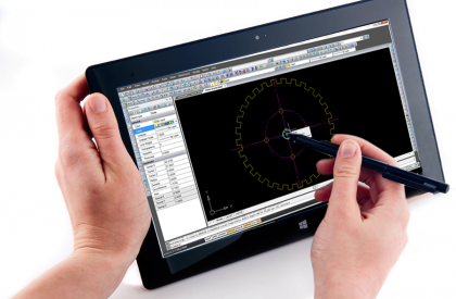 WiseCAD en fonctionnement sur une tablette Windows